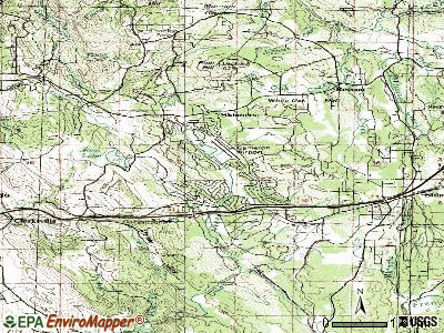 Cameron Park topographic map