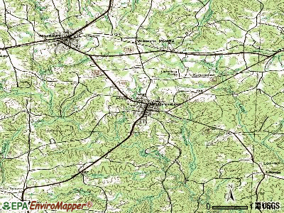 Warrenton topographic map