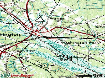Washington Park topographic map