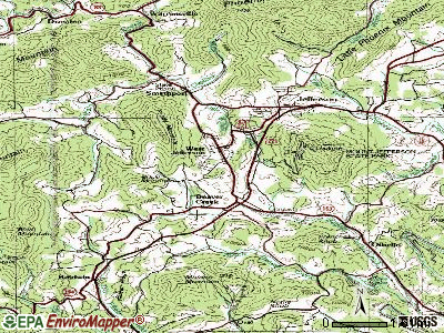 West Jefferson topographic map