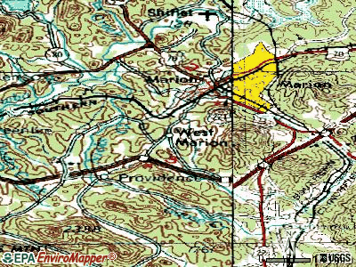 West Marion topographic map