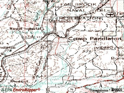 Camp Pendleton North topographic map