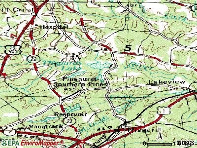 Whispering Pines topographic map