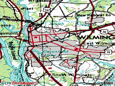 Wilmington topographic map