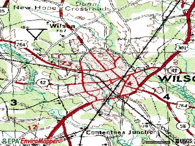 Wilson topographic map