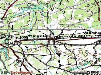 Wingate topographic map