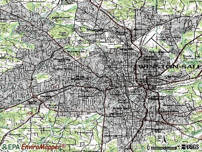 Winston-Salem topographic map