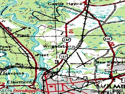Wrightsboro topographic map