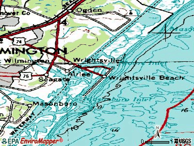 Wrightsville Beach topographic map