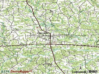 Yadkinville topographic map