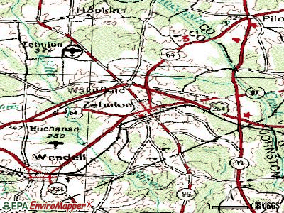 Zebulon topographic map