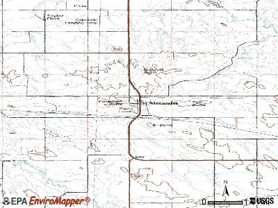 Alexander topographic map