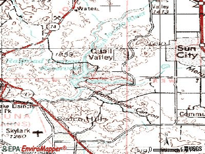 Canyon Lake topographic map
