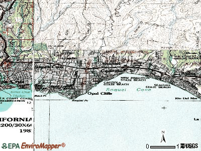 Capitola topographic map