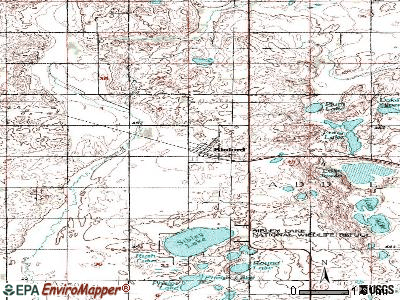 Binford topographic map
