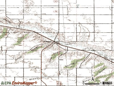 Carpio topographic map
