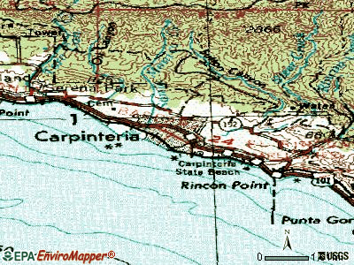 Carpinteria topographic map
