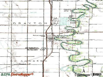 Drayton topographic map