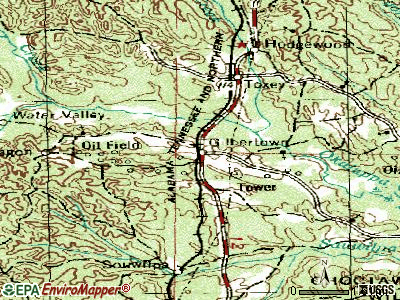 Gilbertown topographic map