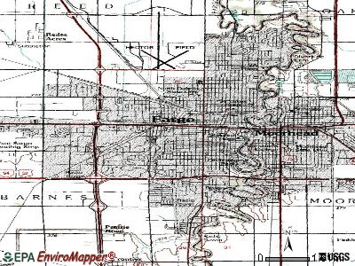 Fargo topographic map