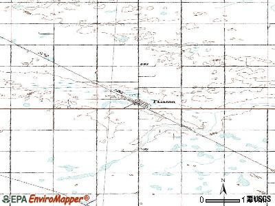 Flaxton topographic map