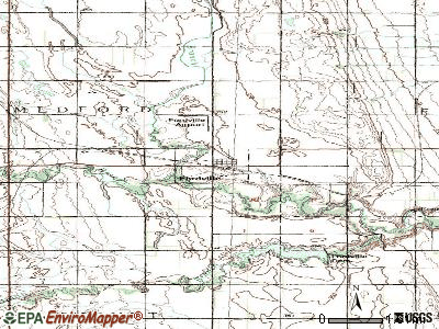 Fordville topographic map