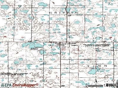 Frontier topographic map