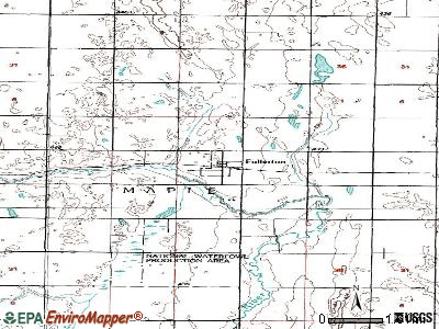 Fullerton topographic map