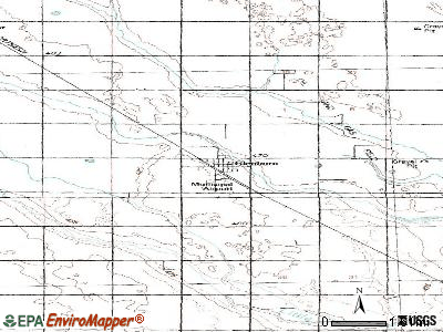 Glenburn topographic map