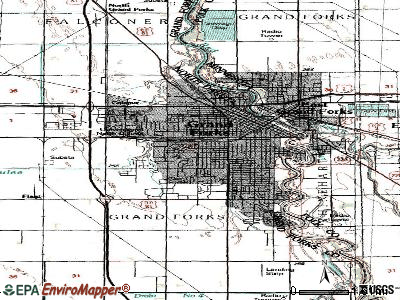 Grand Forks topographic map