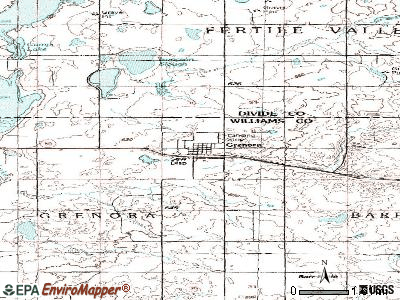 Grenora topographic map
