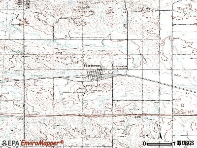 Hebron topographic map