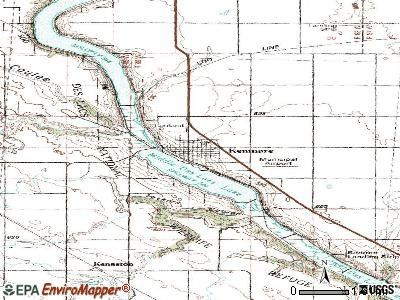 Kenmare topographic map