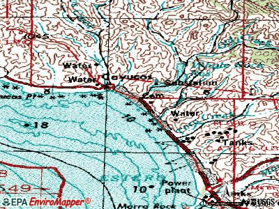 Cayucos topographic map