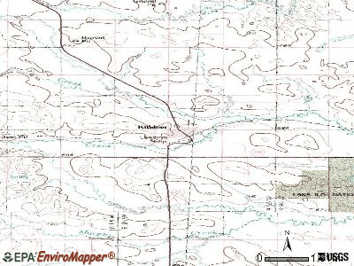 Killdeer topographic map