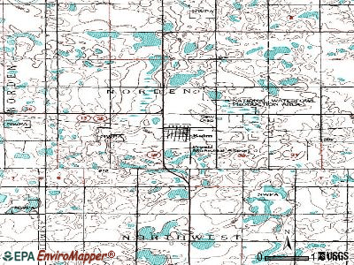 Langdon topographic map