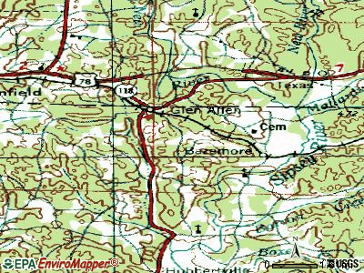 Glen Allen topographic map