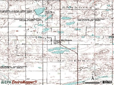 McVille topographic map