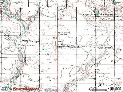 Maddock topographic map