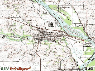 Mandan topographic map
