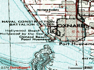 Channel Islands Beach topographic map