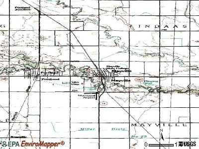 Mayville topographic map