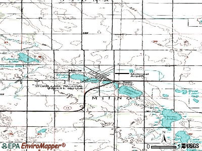 Milnor topographic map