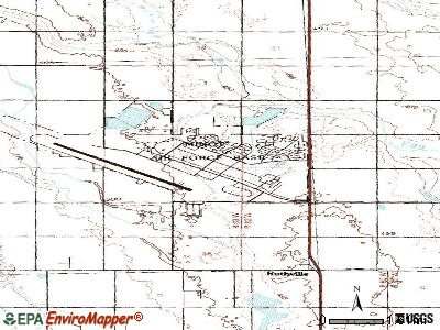Minot AFB topographic map