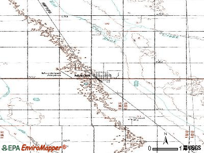 Mohall topographic map