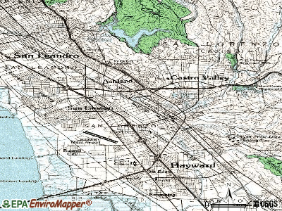 Cherryland topographic map