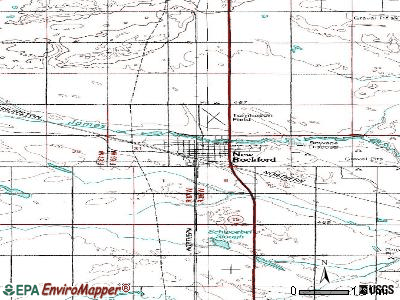 New Rockford topographic map