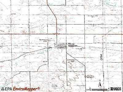 New Salem topographic map