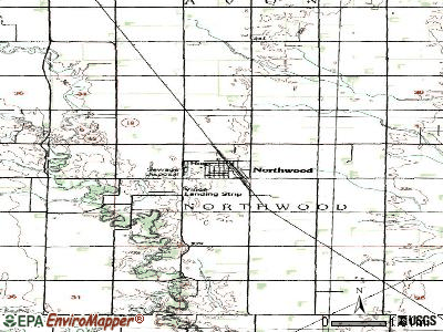 Northwood topographic map