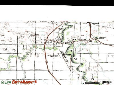 Pembina topographic map